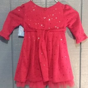 YOUNGLAND BABY Beautiful Red Dress Sz Infant 24 M